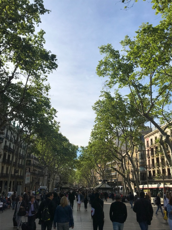 Las Ramblas, Barcelona Catalonia, Spain