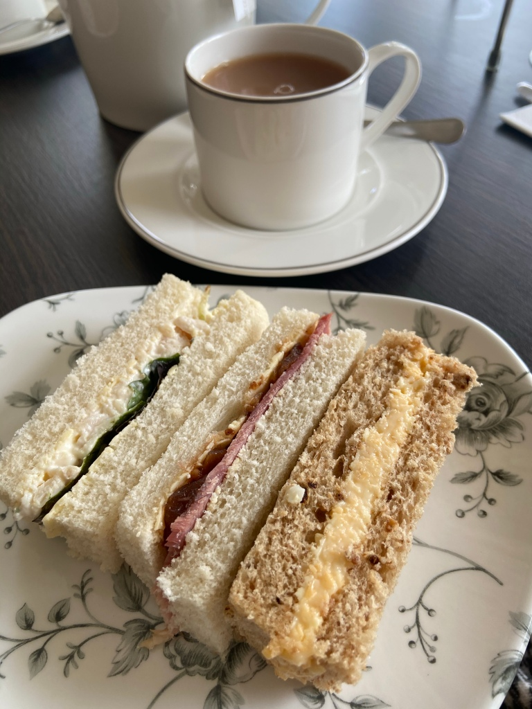 Sandwiches and an egg mayonnaise baguette.