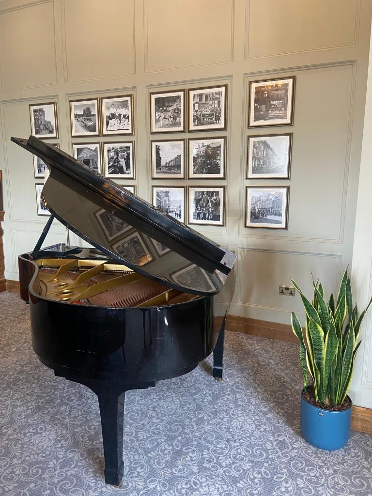 A grand piano.